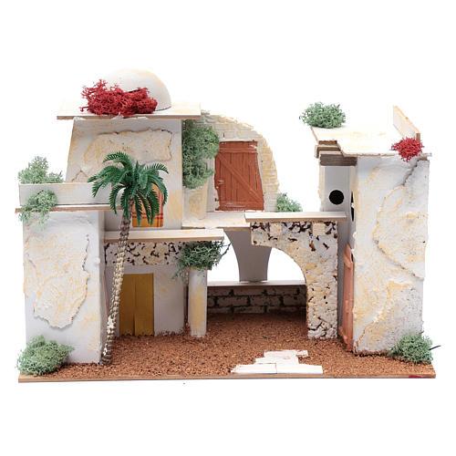 Maison arabe 20x35x20 cm pour santons 7 cm 1