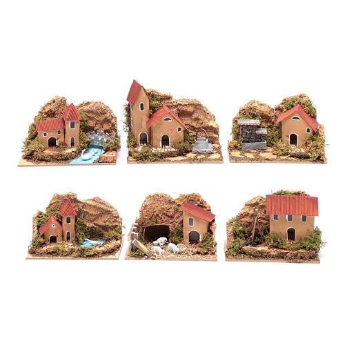 Set 6 pezzi case 15x10x10 cm 1