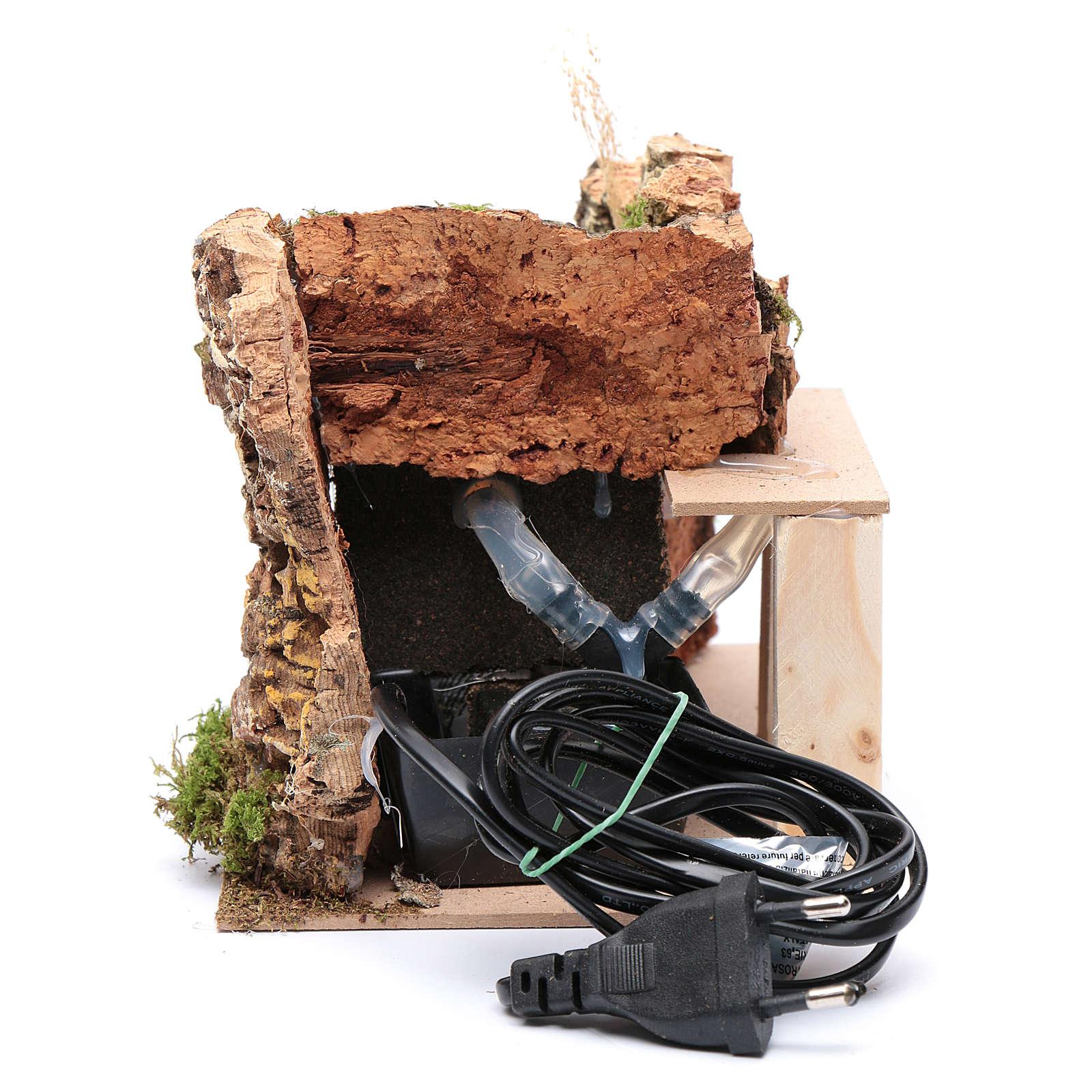 Ambientación fuente con bomba y pared rocosa 15x20x15 4