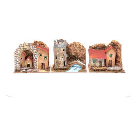 Group of little coloured houses - set of 6 pieces 15x10x10 cm s2