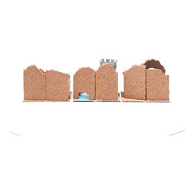 Group of little coloured houses - set of 6 pieces 15x10x10 cm s4