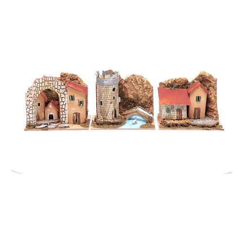 Groupe maisons colorées set 6 pcs 15x10x10 cm 2