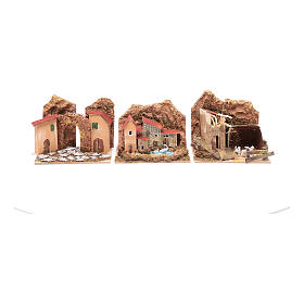 Gruppo casette colorate - set 6 pezzi 15x10x10 cm s3