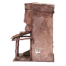 Casetta presepe con portico e scale 40x30x20 cm s4