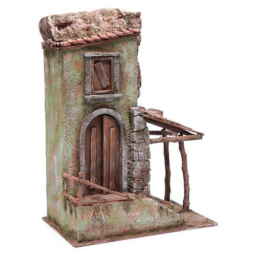 Casetta presepe con portico e scale 40x30x20 cm 3