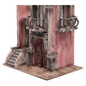 Casa presepe con scalinata 35x30x20 cm s2