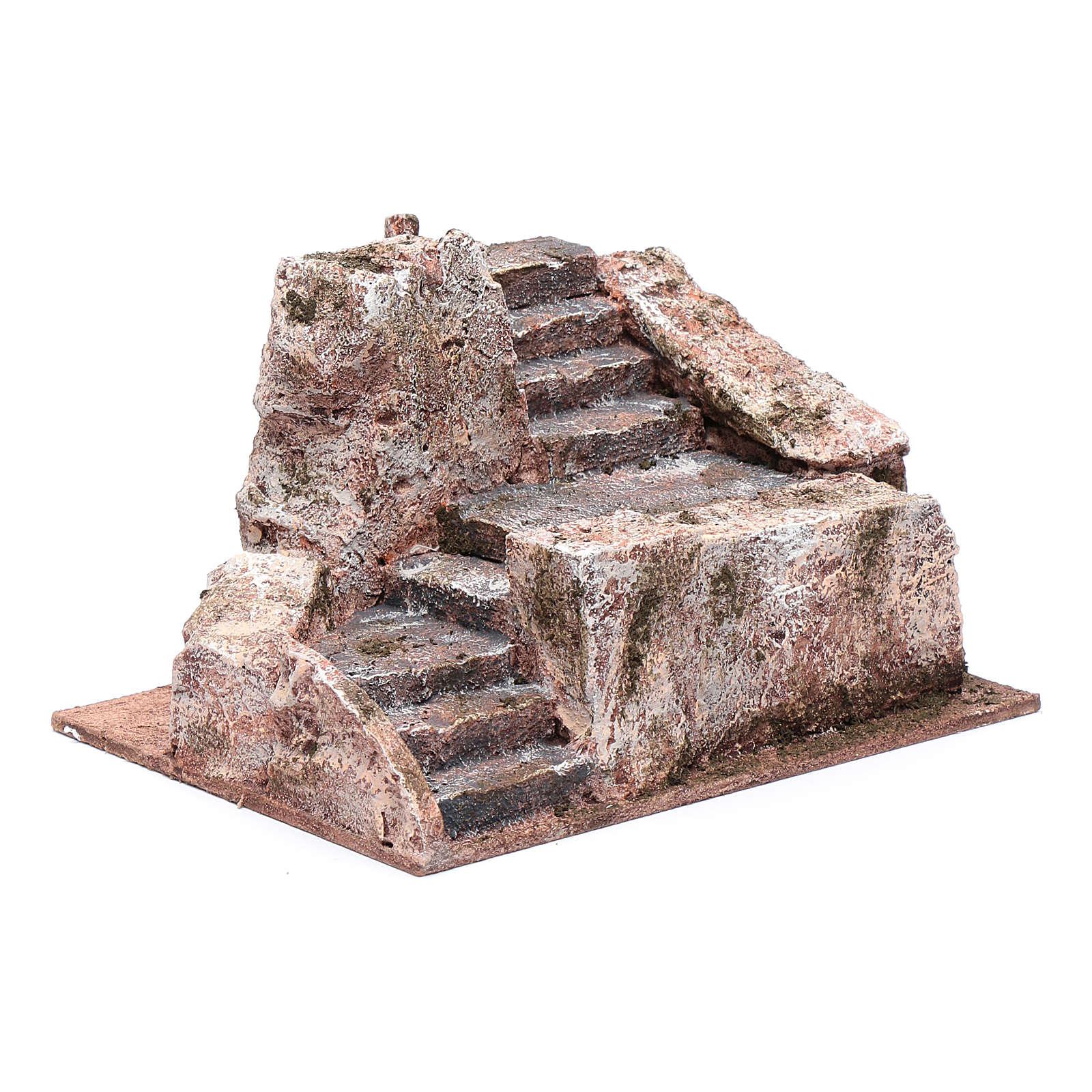 Stone stairway for Nativity Scene 10x20x15 cm 4