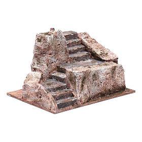 Stone stairway for Nativity Scene 10x20x15 cm s3