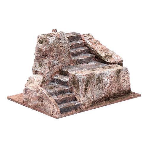 Stone stairway for Nativity Scene 10x20x15 cm 3