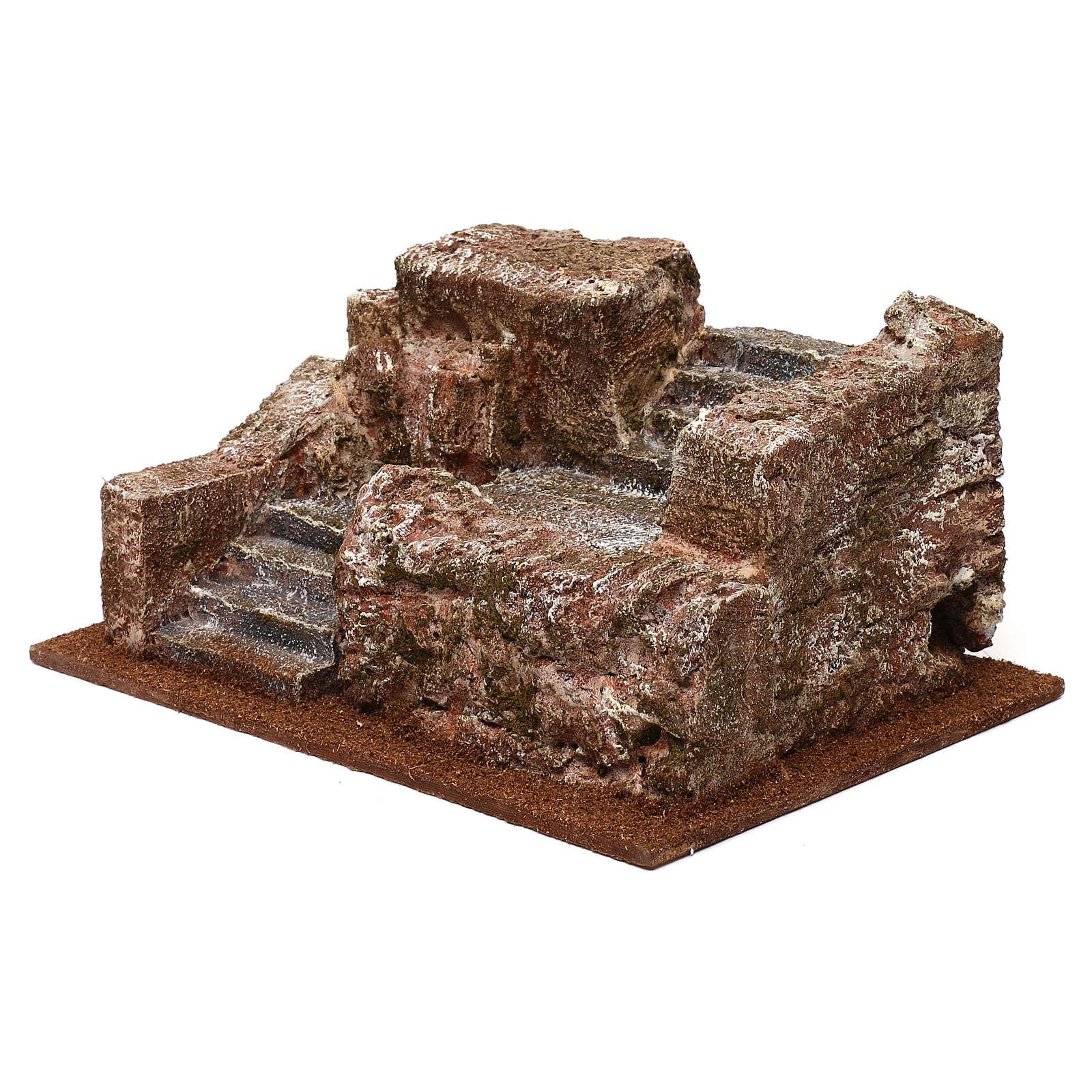 Nativity scene stone staircase 10x25x15 cm 4