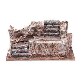 Scalinata tipo roccia presepe 10x25x15 cm s1