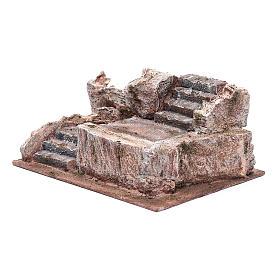 Scalinata tipo roccia presepe 10x25x15 cm s2