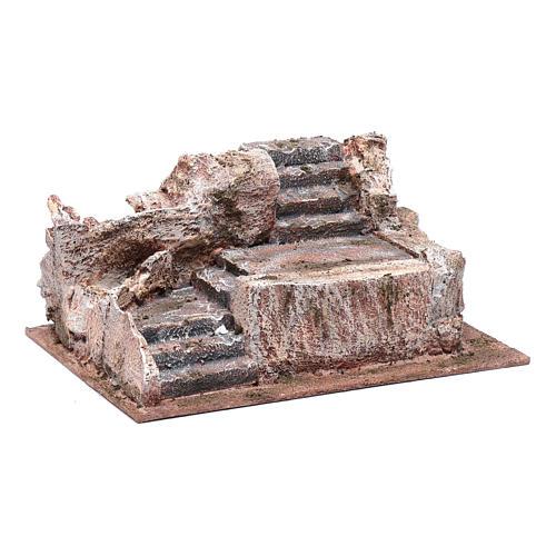 Scalinata tipo roccia presepe 10x25x15 cm 3