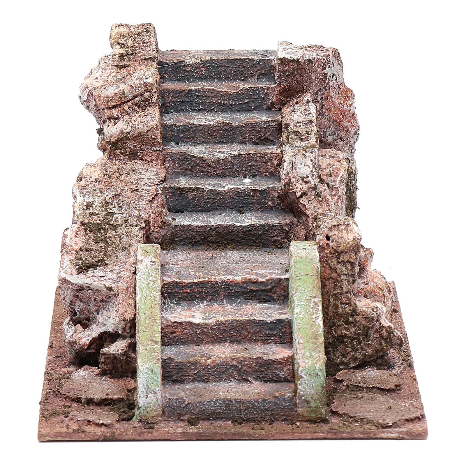 Alte Treppe für Krippe 10x15x20cm 4