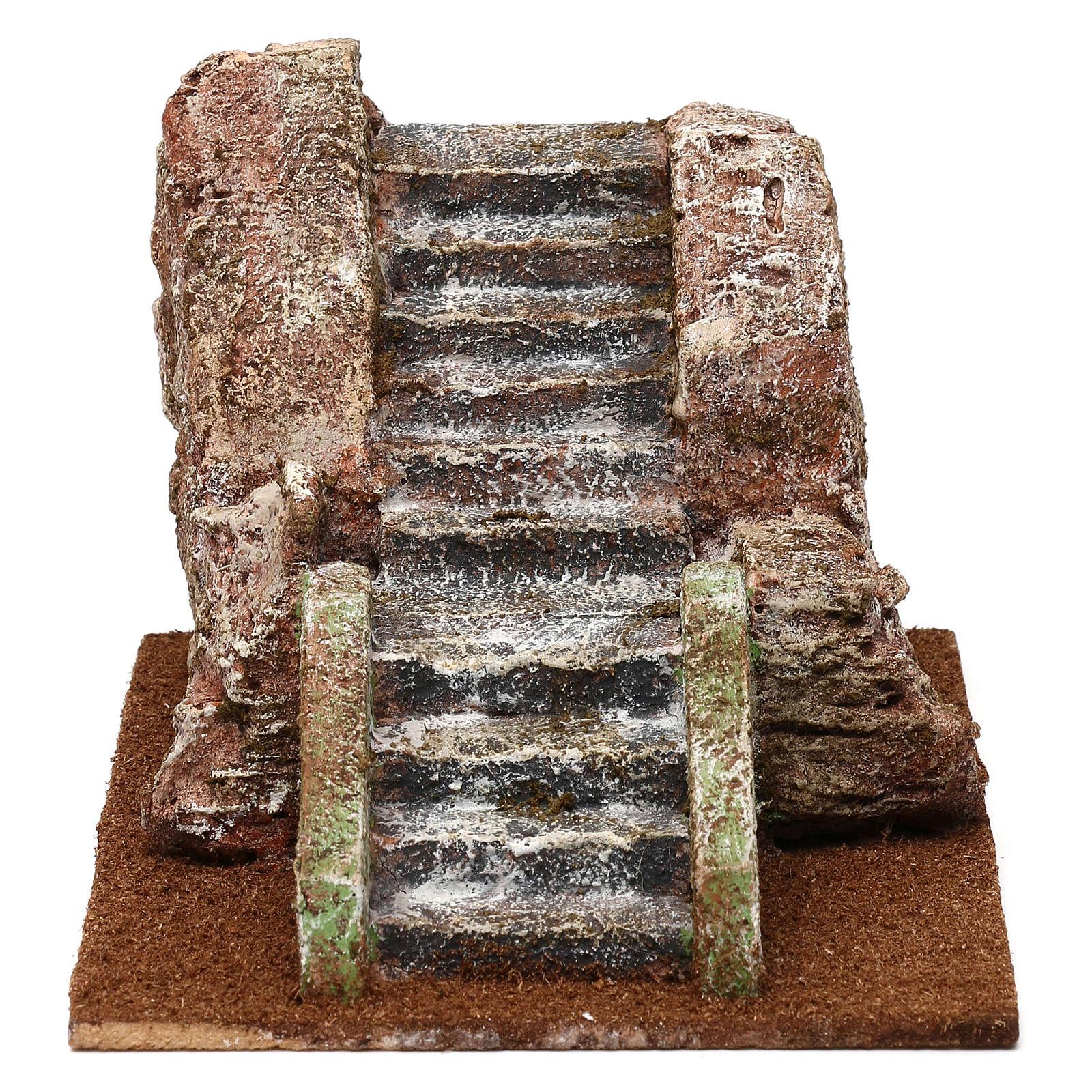 Ancient nativity scene staircase 10x15x20 cm 4