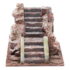 Ancient nativity scene staircase 10x15x20 cm s1