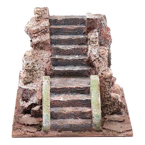 Ancient nativity scene staircase 10x15x20 cm 1