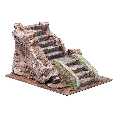 Ancient nativity scene staircase 10x15x20 cm 3