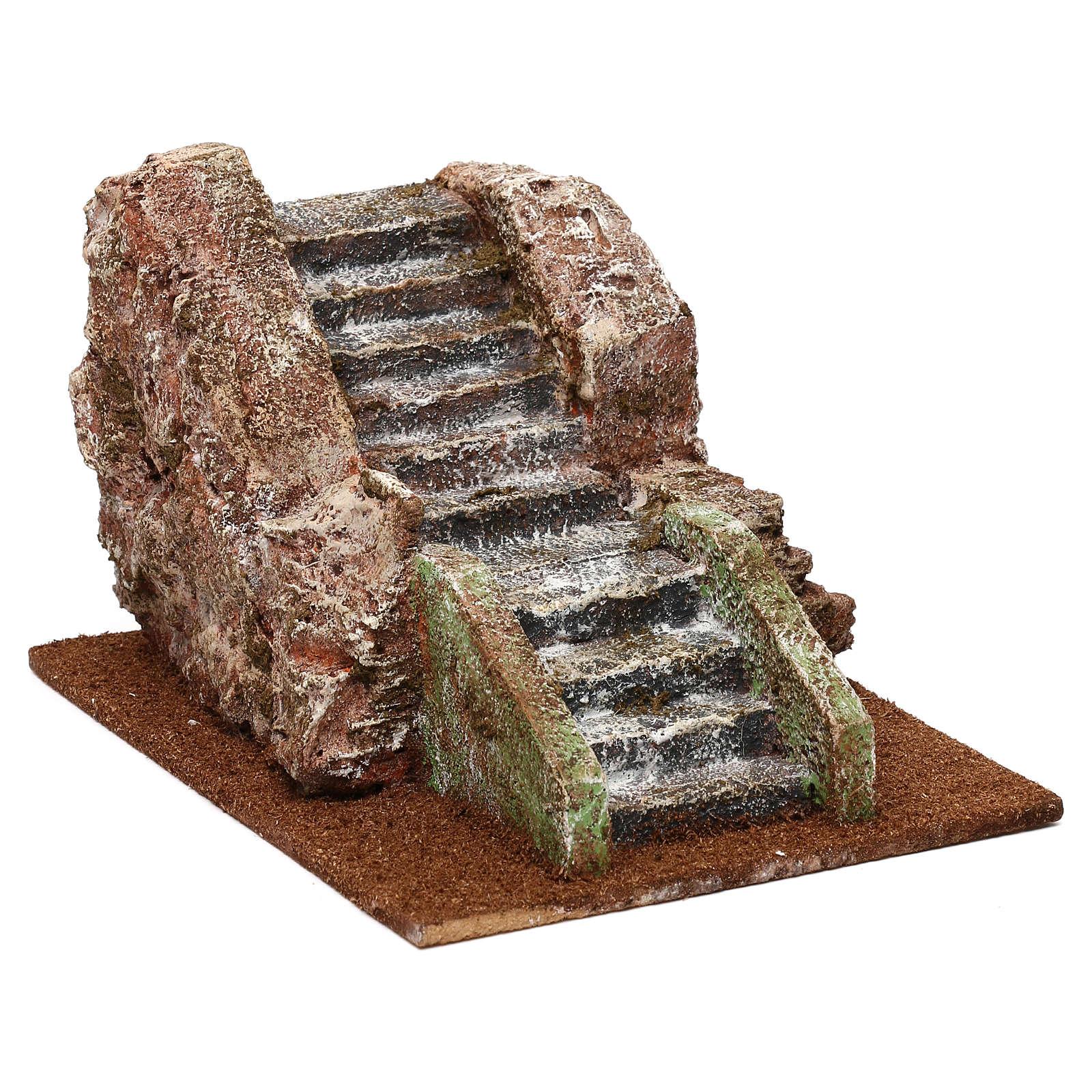 Escalier de crèche ancien 11x14x19 cm 4