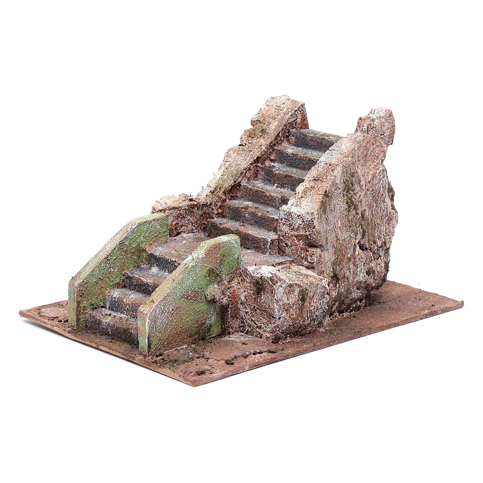 Little ancient nativity scene staircase 10x15x20 cm 4