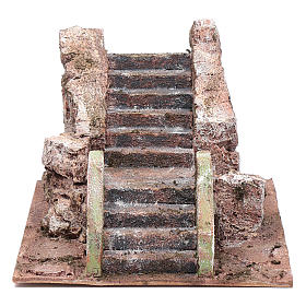 Little ancient nativity scene staircase 10x15x20 cm s1