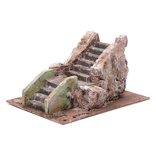Little ancient nativity scene staircase 10x15x20 cm 2