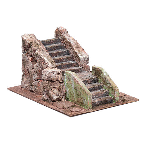 Little ancient nativity scene staircase 10x15x20 cm 3