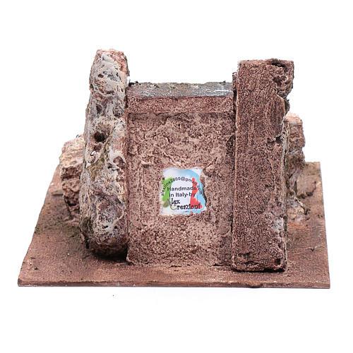 Scaletta del presepe antica 10x15x25 cm 4
