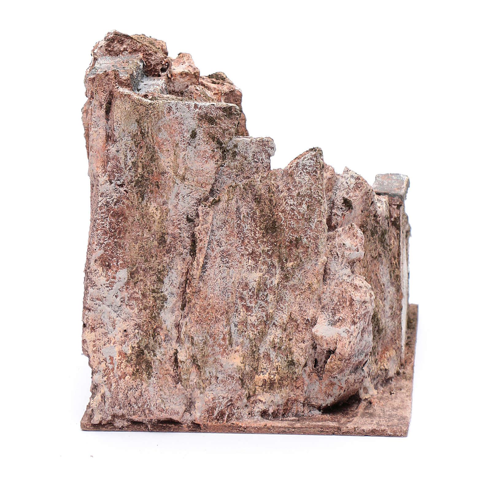 Freitreppe für Krippe mit Stein 15x15x20cm 4
