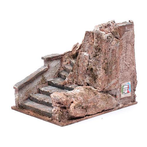 Freitreppe für Krippe mit Stein 15x15x20cm 2