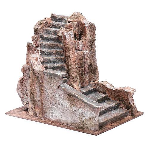 Freitreppe für Krippe mit Stein 15x15x20cm 3
