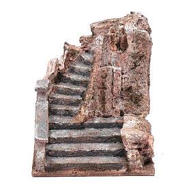 Ambientazioni, botteghe, case, pozzi: Scala presepe arroccata 15x15x20 cm