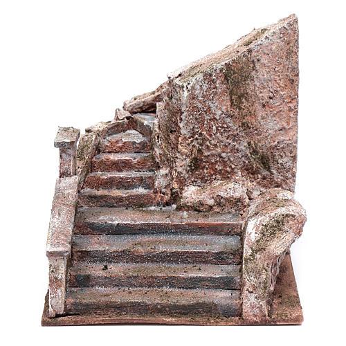 Freitreppe für Krippe mit Stein 15x15x25cm 1