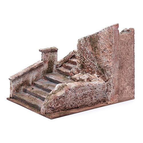 Freitreppe für Krippe mit Stein 15x15x25cm 2