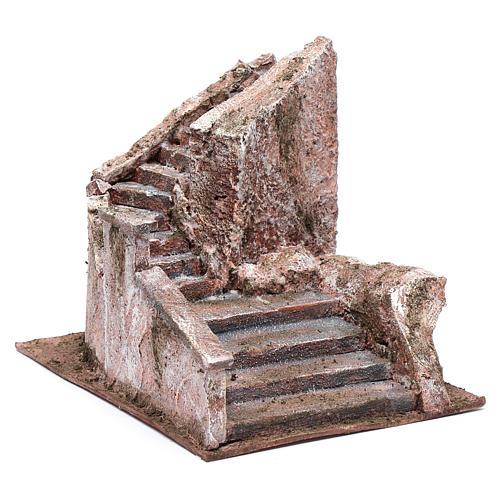 Nativity scene stone stairway 15x15x25 cm 3