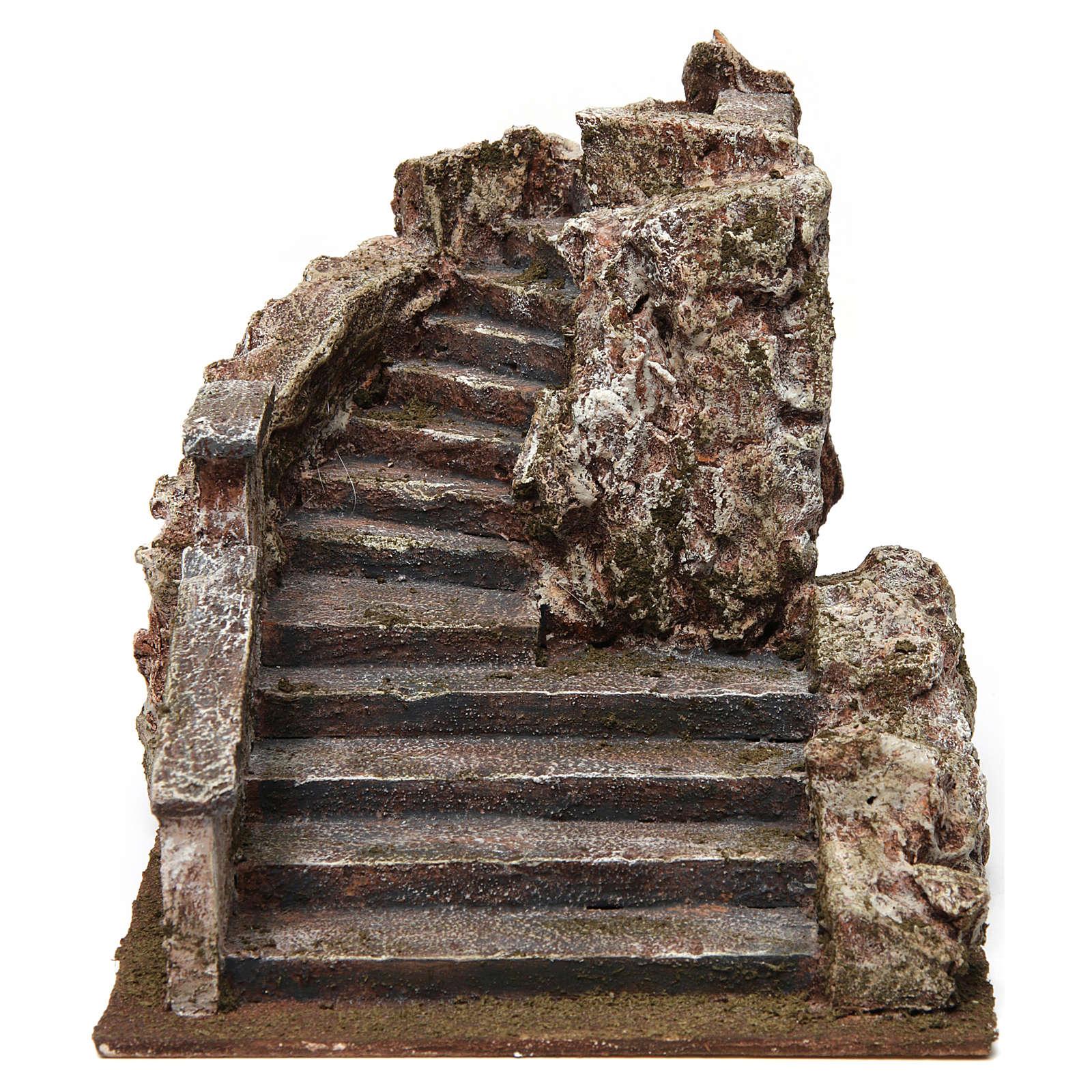 Scalinata presepe tipo roccia 15x15x25 cm 4