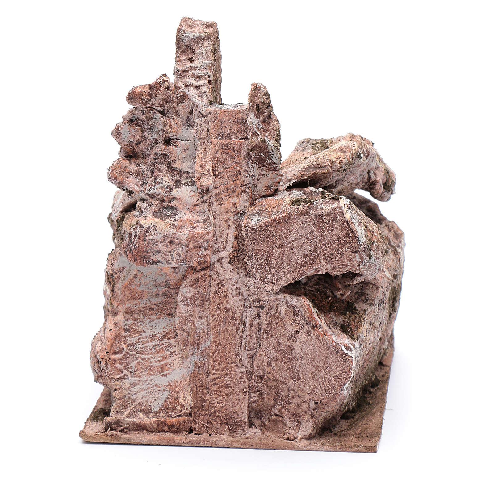 Escalier type roche vieillie crèche 20x14x19 cm 4