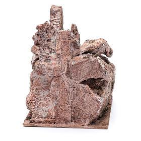 Escalier type roche vieillie crèche 20x14x19 cm s4