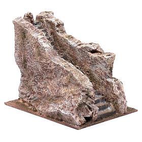 Scalinata antica tipo roccia presepe 20x20x25 cm s2