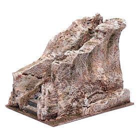 Scalinata antica tipo roccia presepe 20x20x25 cm s3