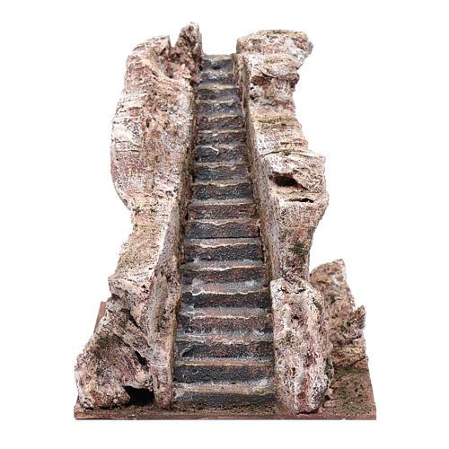 Scalinata antica tipo roccia presepe 20x20x25 cm 1