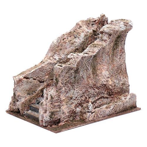Scalinata antica tipo roccia presepe 20x20x25 cm 3