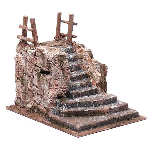 Escalier crèche avec esplanade 15x14x19 cm 3