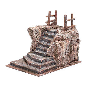 Nativity scene stairway with little square 15x15x20 cm s2