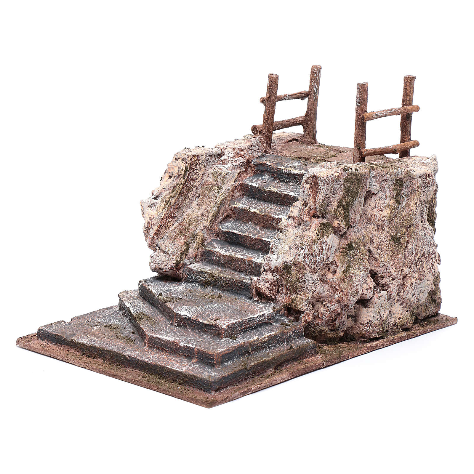 Nativity scene stairway with square 15x20x25 cm 4
