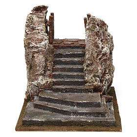 Settings, houses, workshops, wells: Nativity scene stairway with square 15x20x25 cm
