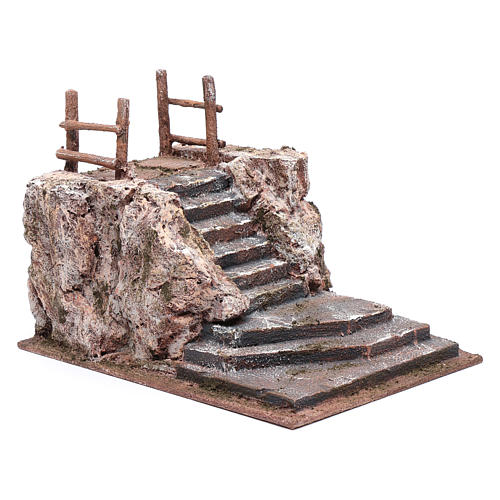 Nativity scene stairway with square 15x20x25 cm 3