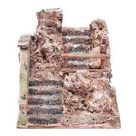 Escalier crèche en ruine 13x19x14 cm s1