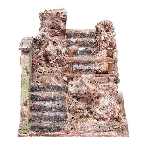 Escalier crèche en ruine 13x19x14 cm 1