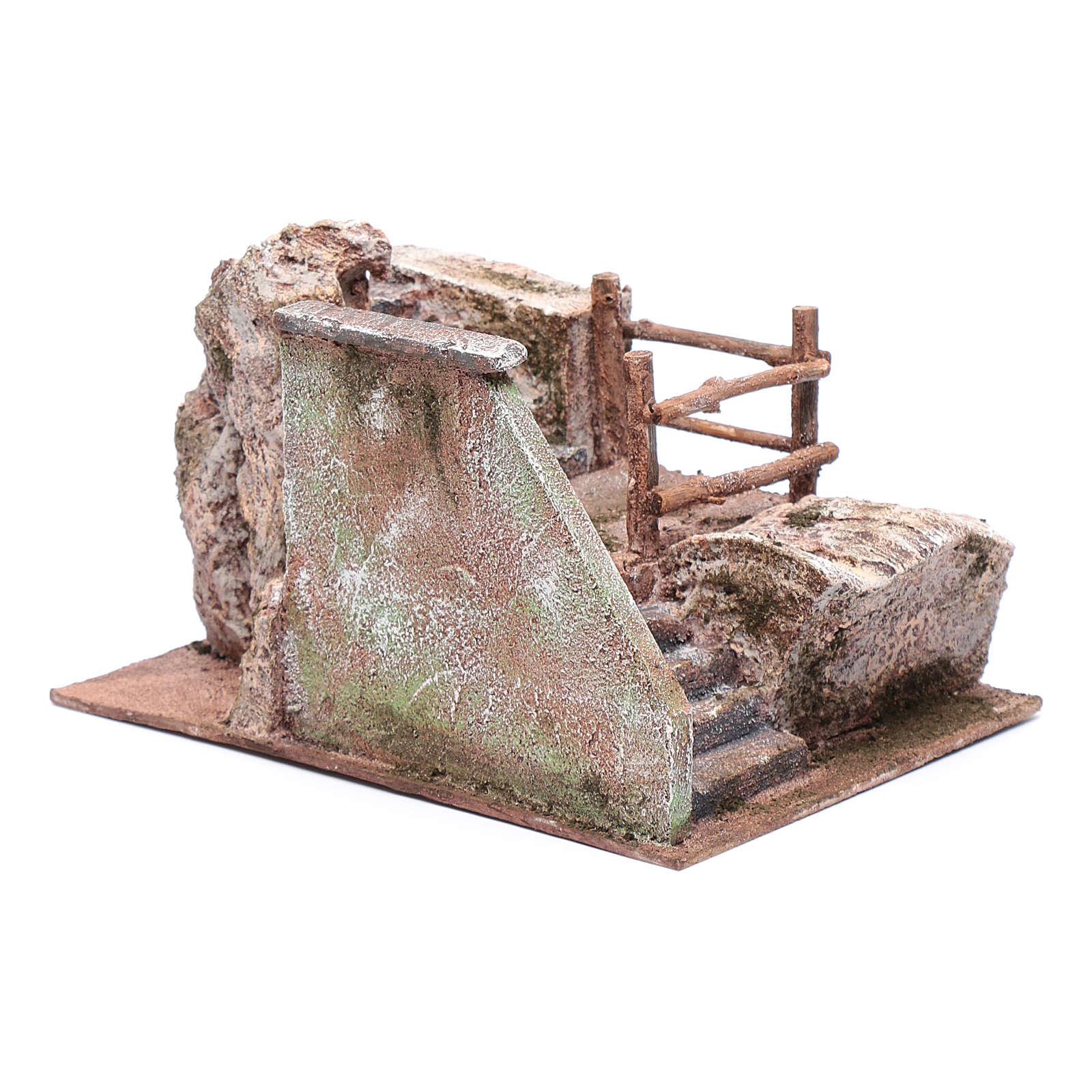 Treppe für Krippe auf Stein 15x20x25cm 4